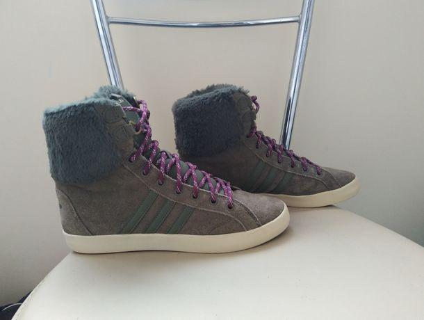 Зимние ботинки кроссовки хайтопы ADIDAS nike 38,5 р., 24,5 см