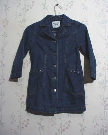 Платье плащ дет Рост 128 CHECK THIS ветровка девочка джинсовая