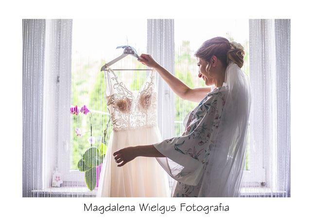Suknia ślubna Herm's Bridal M, 163cm+9cm