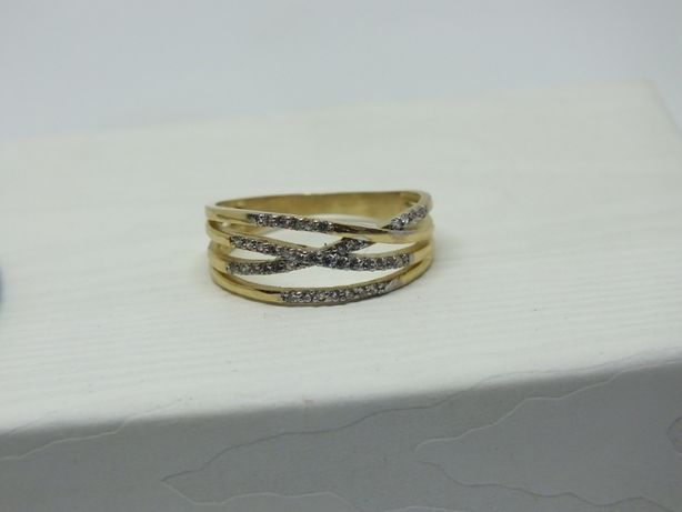 **Nowy złoty pierścionek 2,56 gram , p.585-Lombard Stówka**