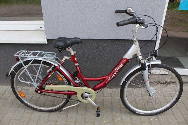 """Rower miejski AluCityStar, 45 cm, 26"""", Alu, Rama Amortyzowana, Nexus 7"""