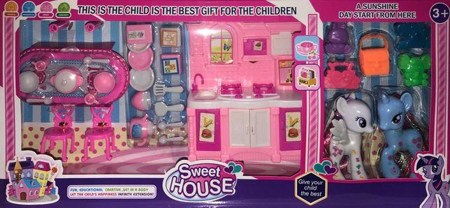 Zestaw Sweet House Mała Kuchnia Akcesoria Zabawka