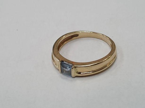 Piękny złoty pierścionek damski/ 585/ 2.5g/ R10/ Świętojańska 40