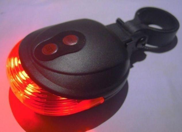 Задний стоп,задний фонарь, на велосипед с лазером и 5 LED не дорого.