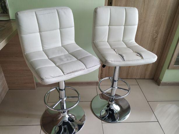 Dwa krzesła barowe hokery do renowacji