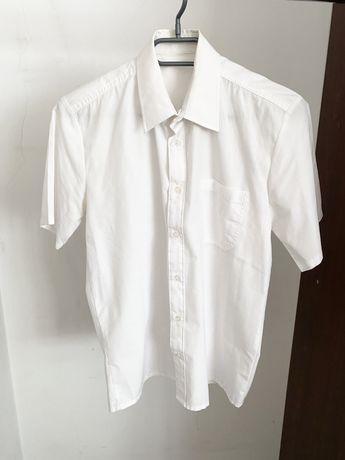 Biała koszula krótki rękaw r.M