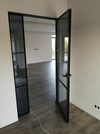 Двері скляні , міжкімнатні двері, лофт перегородка