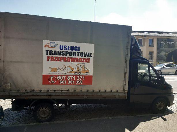 Transport,przeprowadzki cały Dolny Śląsk, duża plandeka,TANIO.