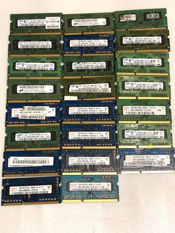 Оперативная память 1gb DDR3 для ноутбука PC3 8500s 10600s 1066 1333 бу