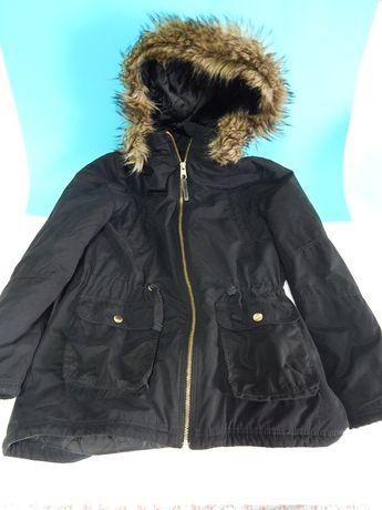Куртка парка демисезонная фирма Н&М, чёрная с капюшоном