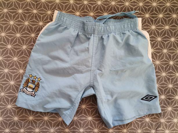 Krótkie spodenki szorty Manchester City Umbro piłka nożna 146 na 11-12