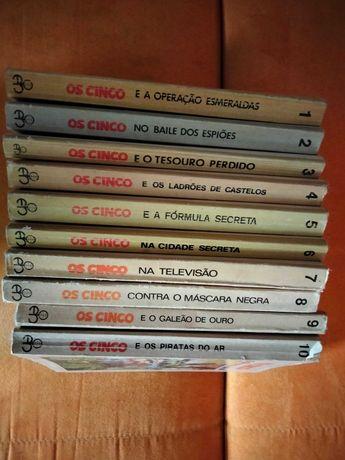 """Livros """"Os Cinco"""""""