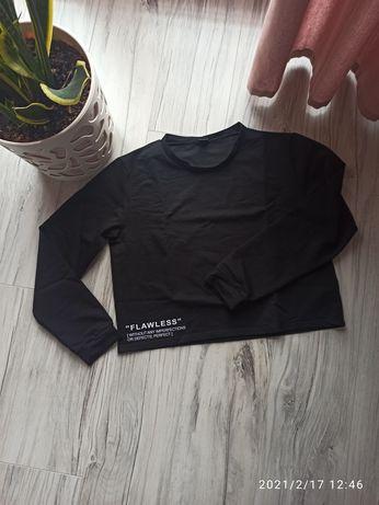 Czarna bluza o krótszym kroju rozmiar l/xl