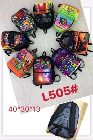 Рюкзак школьный портфель для мальчика Among As, Brawl Stars