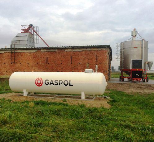 Zbiornik LPG na ramie – instalacja do zasilania suszarni mobilnej