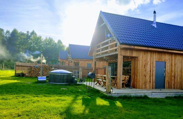 Domek letniskowy na Kaszubach Górska Chata, balia, sauna