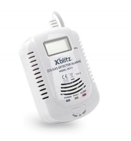 Elektroniczny czujnik czadu i dymu TLENKU WĘGLA detektor CO LCD