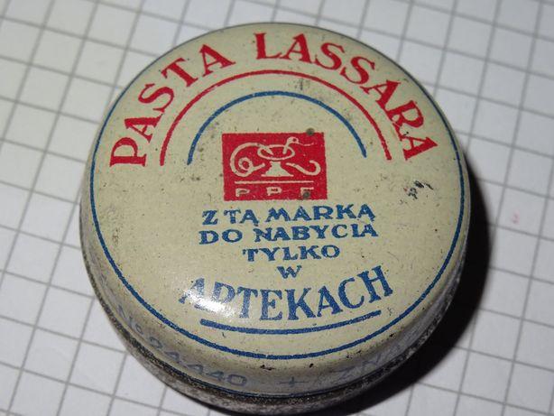 Pasta Lassara przedwojenna maść puszka