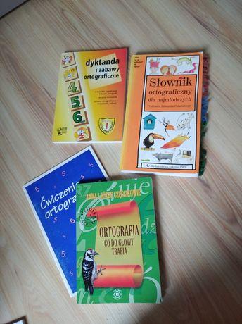 Ortografia klasa 4,5,6, słownik + ćwiczenia i dyktanda ortograficzne
