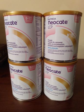 Hipoalergiczne mleko Nutricia Neocate 0-12 LCP 4x400g