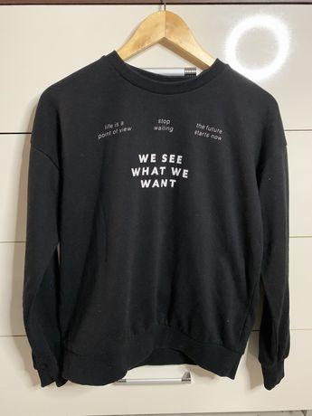 czarna bluza sinsay M