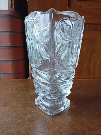 Duży wazon uskokowa forma kwiaty polska huta lata 70-te