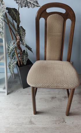 Drewniane krzesła tapicerowane 2 sztuki