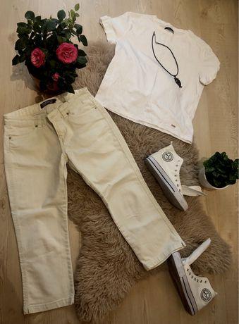 Bryczesy beżowe / spodnie M (38)