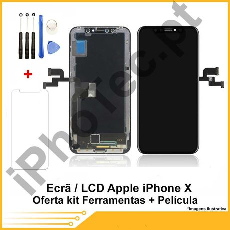 ECRÃ / TOUCH + LCD iPhone  X Oferta película + kit ferramenta