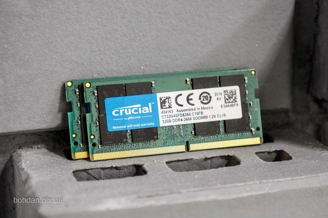 64GB (2x32GB) Crucial DDR4 2666 MHz SO-DIMM CT32G4SFD8266.C16FB RAM