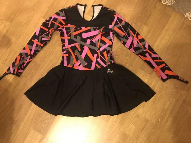 Трико платье для танцев гимнастики