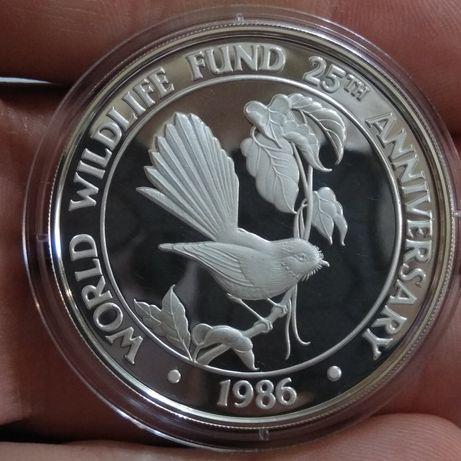 Самоа 10 долларов 1986, серебро 925° - 31,4 грамм пруф срібло