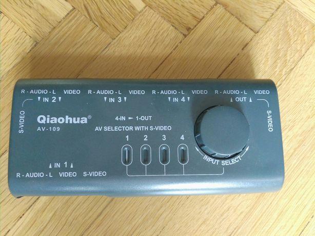 Przełącznik AV 4-wejściowy