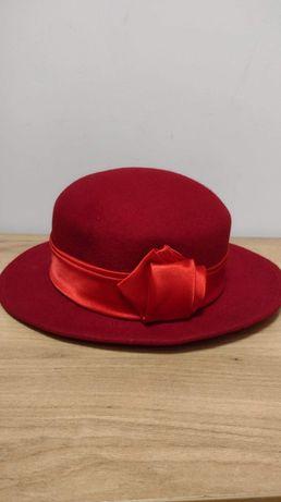 Damski kapelusz 100% wełna
