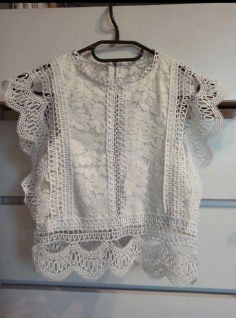 Koronkowa bluzeczka S/M biała