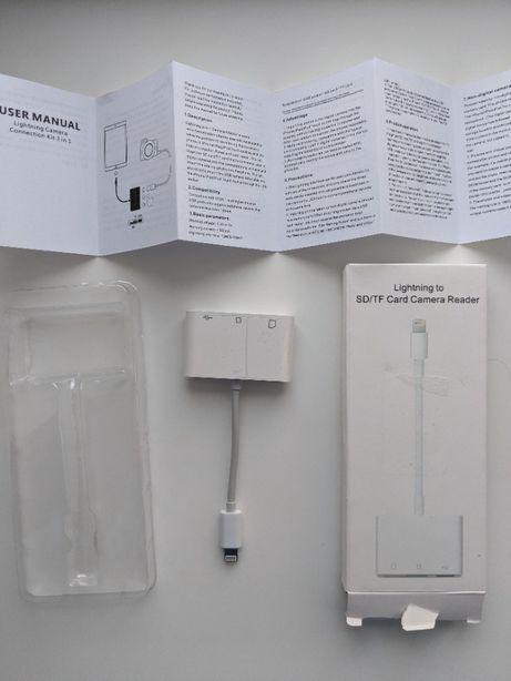 Переходник адаптер Картридер Lightning to SD/TF Card Camera Reader 3в1