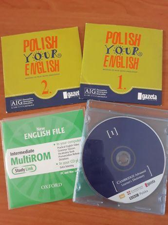 Płyty z materiałami do nauki języka angielskiego