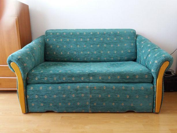sofa dwuosobowa z pojemnikiem na pościel  + 2 fotele (komplet)