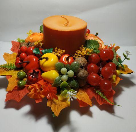 Осенняя композиция  со свечой
