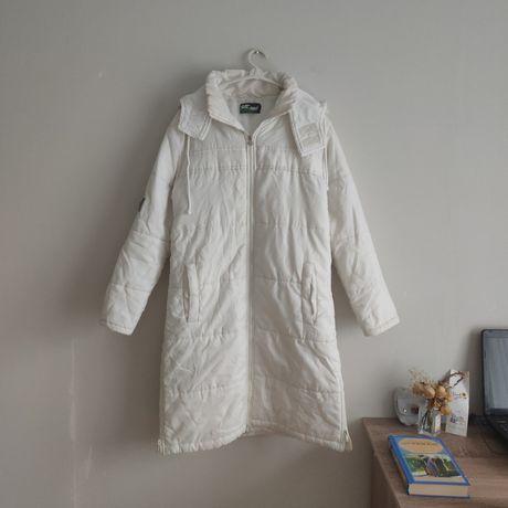Белая куртка пуховик одеяло курточка