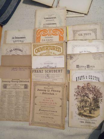 XIX wieczny zbiór nut fortepianowych unikat antyk negocjacja 17 sztuk