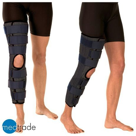 Тутор шина бандаж фиксатор ортез коленного сустава размер L (56 см)