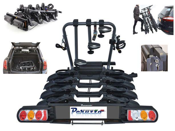 Bagażnik rowerowy Peruzzo Pure Instinct na 4 rowery montowany na hak