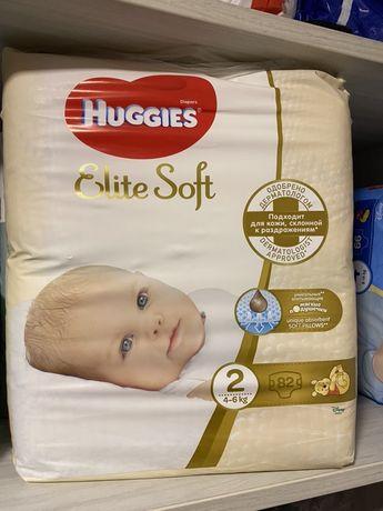 Памперсы huggies elit soft 2 новые