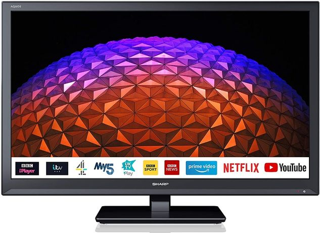 """Sharp 24""""Smart TV Wi-fi-Netflix- YouTube, zasilany na 12V,24V i 230V"""