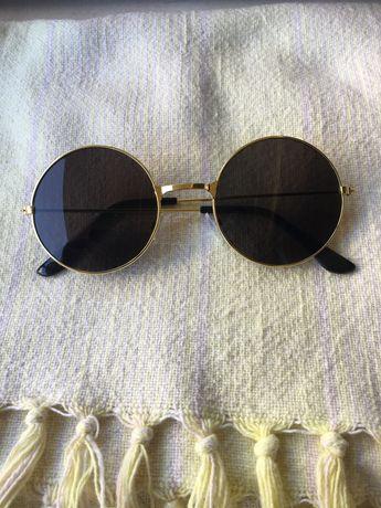 Óculos escuros redondos - novos