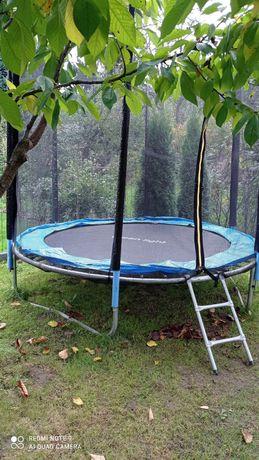 Trampolina ogrodowa 252 cm,8ft siatka drabinka just jump