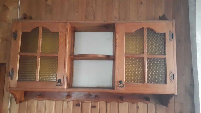 Półka wisząca drewniana