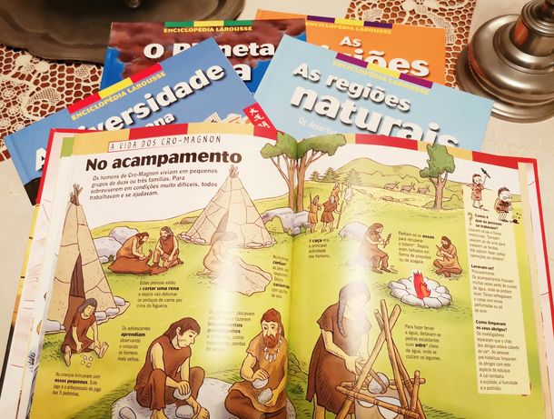 Colecção infantil Larousse 6 livros - planeta terra, dinossauros