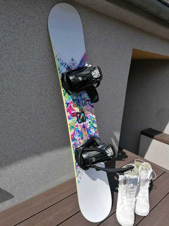 Deska snowboard SALOMON+wiązania+buty 39. używana